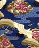 MAGNIFICENT CRANES: Navy Blue (1/2 Yd)
