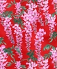 MICHIKO: Cascading Wisteria: Red (1/2 Yd.)