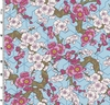 MT. FUJI: Plum Blossoms - Blue/Gold (1/2 Yd.)