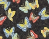 NIWA COLLECTION: Butterflies - Black (1/2 yd)