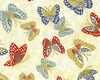 NIWA COLLECTION: Butterflies - Cream (1/2 yd)