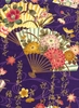 ORNATE JAPANESE FOLDING FANS: Purple (1/2 Yd.)