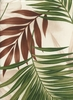 Palm Leaves & Monstera: Natural (1/2 Yd.)