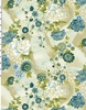 PASSION COLLECTION: Drifting Blossoms - Blue/Gold (1/2 Yd)