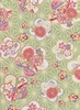 Patterned Cherry Blossoms: Cotton Dobby - Green (1/2 Yd.)