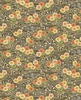 PEACEFUL STREAM: Floral Stream - Charcoal/Gold (1/2 yd)