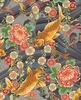 PEACEFUL STREAM: Koi Water Garden - Charcoal/Gold (1/2 yd)