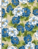 PEONY PRAIRIE: Peony Clusters - Blue/Gold (1/2 Yd.)