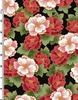 PEONY PRAIRIE: Peony Clusters - Red/Gold (1/2 Yd.)