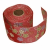 RED RAYON CHIRIMEN RIBBON - 1 Inch Wide: Flowers (6 Yd. Roll)