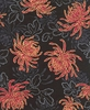 RED SPIDER MUMS: Black (1/2 yd)