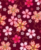 SAKURA - PATTERNED CHERRY BLOSSOMS: Burgundy (1/2 yd)