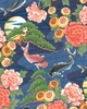 SECRET POND: Majestic Koi - Navy Blue (1/2 Yd.)