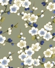 SERENE COLLECTION: Cherry Blossoms - Taupe (1/2 Yd.)