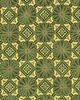SERENE COLLECTION: Floral Medallions - Green (1/2 Yd.)