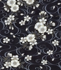 SOARING COLLECTION: Cherry Blossoms - Black/Gold (1/2 yd)