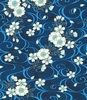SOARING COLLECTION: Cherry Blossoms - Indigo/Gold (1/2 yd)