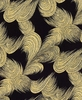 SOARING COLLECTION: Waves - Black/Gold (1/2 yd)