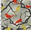 SONGBIRD SILHOUETTES & BRANCHES: Red (1/2 Yd)