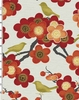 SONGBIRDS & CHERRY BLOSSOMS: Red (1/2 Yd)