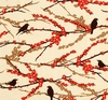 Cherry Blossom Branches & Sparrows: Bark (1/2 Yd.)