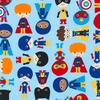 Super Boys: Baby Blue (1/2 Yard)