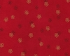TINY BLOSSOMS AFLOAT: Red (1/2 Yd.)