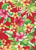 Tropical Floral Paradise: Red (1/2 Yd.)