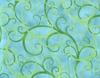 Winding Vines: Turquoise (1/2 Yd.)