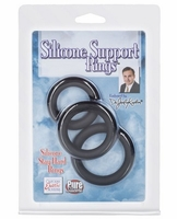 Dr Joel Silicone Support Rings - Black Pack of 3