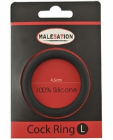 Malesation Silicone Cock Ring Large - Black