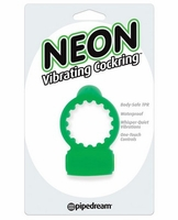Neon Vibrating Cockring - Green