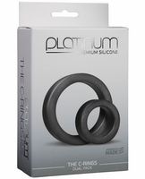 Platinum Silicone C Rings Set - Charcoal