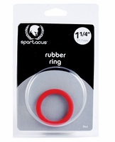 "Rubber Cock Ring - 1.25"" Red"