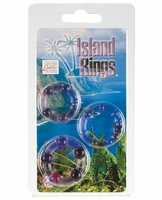 Silicone Island Rings - Purple