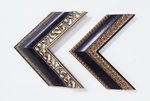 Black and silver wood frames