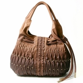 Brown Fading Ruche Bag