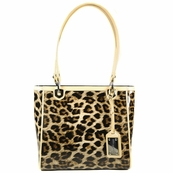 Leopard Patent Leather Tote Bag