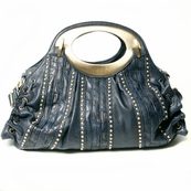 Navy Sexy Studded Tote