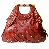 Red Bamboo Tote
