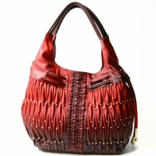 Red Fading Ruche Bag