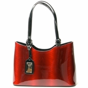 Red Patent Leather Tote Bag