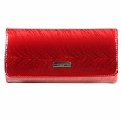 Red Patent Leather Wallet Clutch