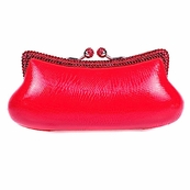 Red Snake Print Swarovski Crystal Clutch with Red Crystals