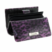 Small Cheetah Patent leather Wallet