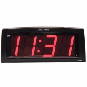 "AcuRite 7"" Intelli-Time Digital Alarm Clock, 2"" LED Display, 13003"