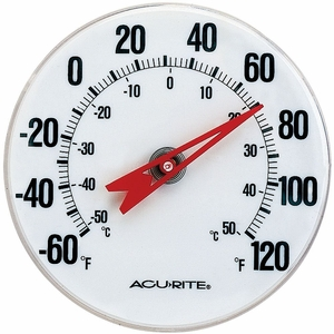 """Acurite Indoor or Outdoor Thermometer with Mounting Bracket, 5"""", 00346A2"""