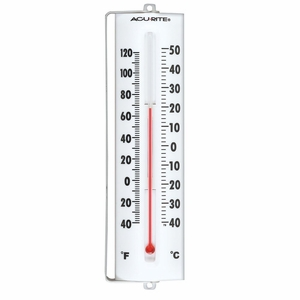 """Acurite Indoor or Outdoor Thermometer with Swivel Bracket, 8.5"""", 00330A1"""