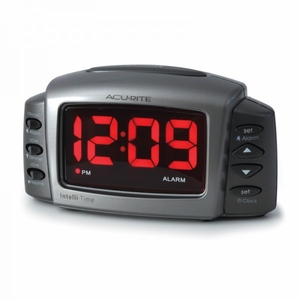 AcuRite Intelli-Time Digital Alarm Clock, 13030