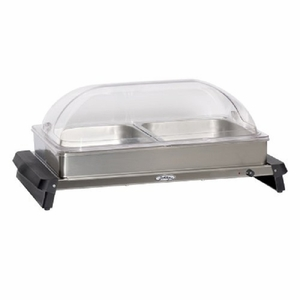 Broilking Professional Double Buffet Server w/ Rolltop Lid, NBS-2RT